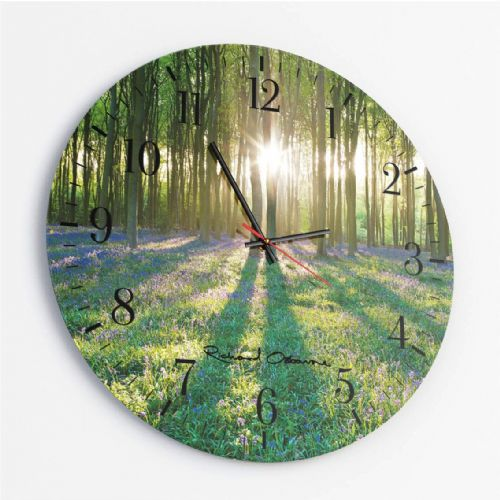 Micheldever Wood, Hampshire - Round Glass Clock